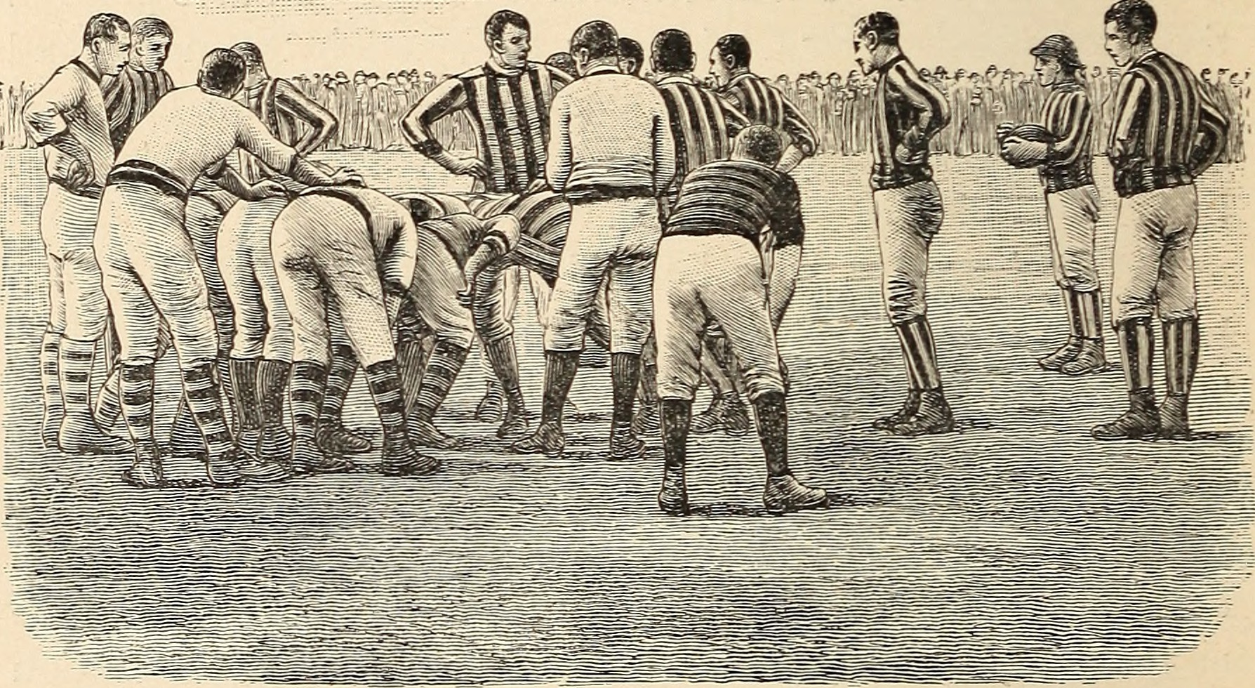 Forming_a_scrum_in_early_rugby_union